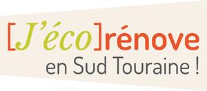 """Logo """"J'éco rénove en Sud Touraine !"""""""