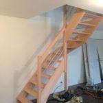 Pose menuiserie escalier bois